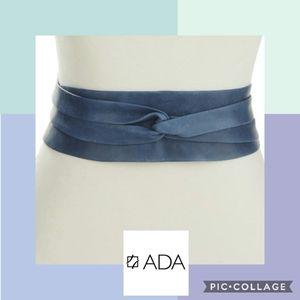 ADA Obi Classic Wrap Belt in Blue